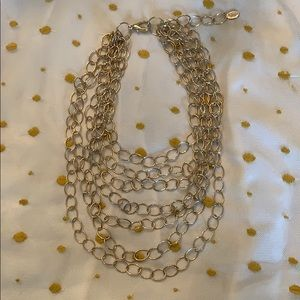 Amrita Singh layered sparkly gold necklace